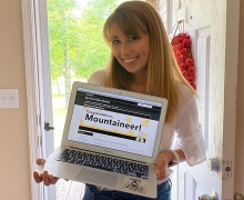 Kaitlyn Helton, a junior from Marion, transferred to Appalachian State University in fall 2020 and is pursuing her B.S. in childhood development-birth through kindergarten (licensure) through App State Online. Photo submitted