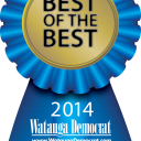 Blue ribbon logo of Watauga Democrat's 2014 Best of the Best